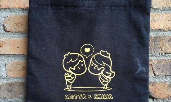 Tote Bag Souvenir Pernikahan